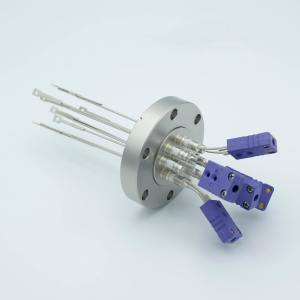 Thermocouple Feedthrough, Type E, 5 Pairs, Miniature Connectors, 2.75 Conflat Flange