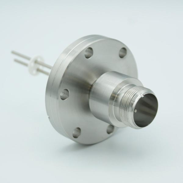 """MS High Current Series, Multipin Feedthrough, 2 Pins, 700 Volts, 16 Amps per Pin, 0.094"""" Nickel Conductors, 2.75"""" Conflat Flange"""