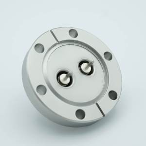 """MPF - A0292-2-CF MHV Coaxial Feedthrough, 2 Pins, Grounded Shield, 2.75"""" Conflat Flange, Without Air-side Connector"""