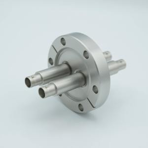 """MPF - A0473-4-CF MHV Coaxial Feedthrough, 2 Pins, Grounded Shield, Double-Ended, 2.75"""" Conflat Flange"""