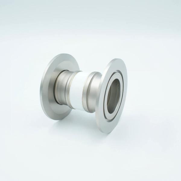 "MPF - A0597-3-QF Ceramic Break, 5KV Isolation, 1.37"" Inner Dia, 2.95"" QF / KF Flange"