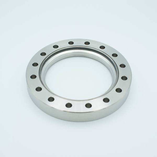 """UHV Viewport, IR Grade LOW OH Fused Silica, Zero Length Profile, 3.88"""" View Dia, 6.00"""" Conflat Flange"""