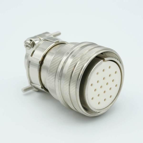 """MPF - A1176-1-CN MS Series Vacuum Side Connector, 10 Pair Thermocouple, Type E, Accepts 0.056"""" Dia. Pins"""