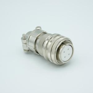 """MPF - A1183-1-CN MS Series Vacuum Side Connector, 2 Pair Thermocouple, Type J, Accepts 0.056"""" Dia. Pins"""