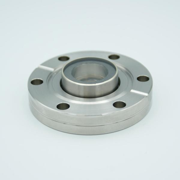 """MPF - A12819-1: UV Grade Sapphire Viewport, Over-Pressure, 0.75"""" View Dia, 2.75"""" Conflat Flange"""