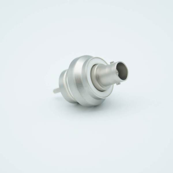 """MPF - A1301-2-W BNC Coaxial Feedthrough, 1 Pins, Floating Shield, 0.970"""" Dia. 52 Ni-Fe Weld Adapter, UHV Compatible, Without Air-side Connector"""