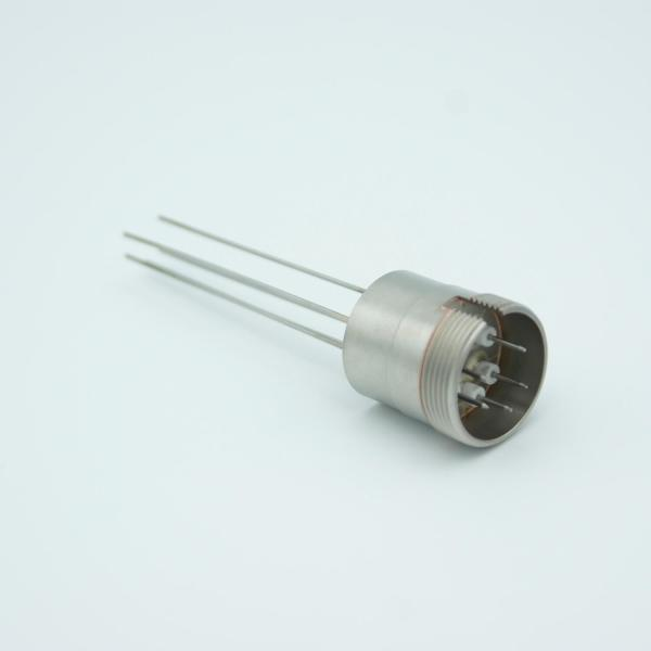 """MPF - A1424-1-W Multipin Feedthrough, 5 Pins, 500 Volts, 3.5 Amps per Pin, 0.032"""" Dia Conductors, 0.75"""" Dia Stainless Steel Weld Adapter"""