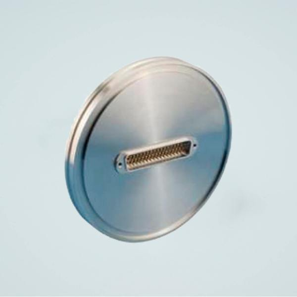 """MPF - A1529-4-ISO Subminiature D-type Multipin Feedthrough, 50 Pins, 500 Volts, 5 Amps per Pin, 5.12"""" ISO Flange"""