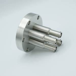 """MPF - A1600-5-CF SHV-10 Coaxial Feedthrough, 4 Pins, Grounded Shield, 2.75"""" Conflat Flange"""