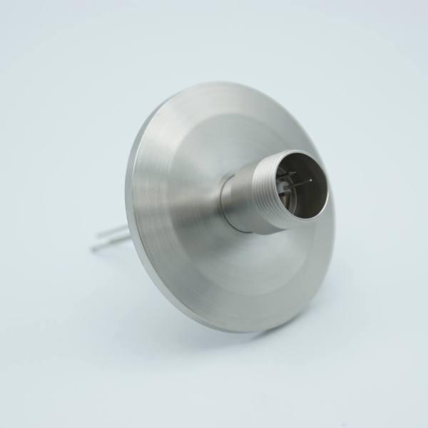 """MPF - A1622-2-QF Multipin Feedthrough, 3 Pins, 500 Volts, 3.5 Amps per Pin, 0.032"""" Dia Conductors, 2.16"""" QF / KF Flange"""