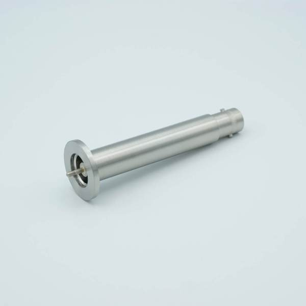 """MPF - A2096-3-QF SHV-20 Coaxial Feedthrough, 1 Pin, Grounded Shield, 1.18"""" QuickFlange, Without Air-side Connector"""