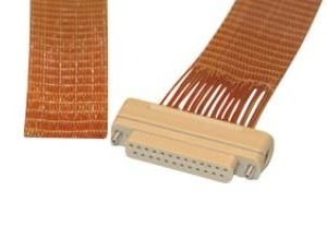 """Subminiature D-type Connector/Cable, 25 Pins, In-Vacuum, Peek Connector w/ Kapton Wire, 19"""" Length, Female Pins"""