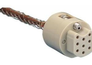 """Subminiature C-type Connector/Cable, 9 Pins, In-Vacuum, Peek Connector w/ Kapton Wire, 19"""" Length, Female Pins"""