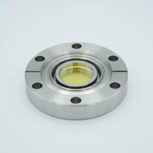"UHV Viewport, Zinc Selenide (ZnSe), UHV Rated Vacuum-Optics, 0.90"" View Dia, 2.75"" Conflat Flange"