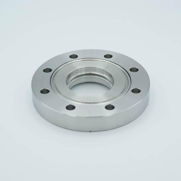 UHV Viewport, Calcium Fluoride (CaF2), 157 Grade, UHV Rated Vacuum-Optics, 1.88″ View Dia, 4.50″ Conflat Flange