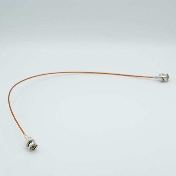 """MPF - A7305-3: Coaxial Cable Assembly, In-Vacuum, BNC to BNC Male Connectors, 50 Ohm Coaxial Cable w/ Kapton Insulation, 19"""" Length"""
