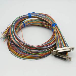 """Micro-D Connector, Air-Side, 100 Pins, Teflon Insulated Wire, 24"""" Cable"""