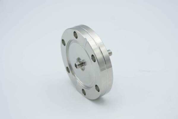 """SMA Coaxial Feedthrough, 50 Ohm Matched Impedance, 1 Pin, Grounded Shield, Double-Ended, 2.75"""" Conflat Flange"""