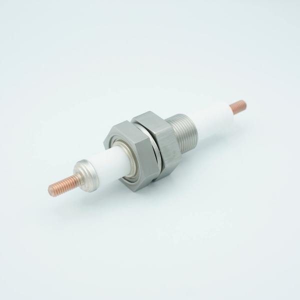 """MPF - A6202-1: E-Beam High Current Feedthrough, 20KV, 750 Amps, 1"""" Baseplate Assembly"""