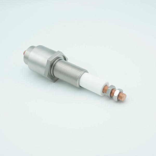 """MPF - A6297-1: E-Beam Power Feedthrough, 12,000 Volts, 1 Pin, 1"""" Baseplate Bolt, with Sputter Shields"""