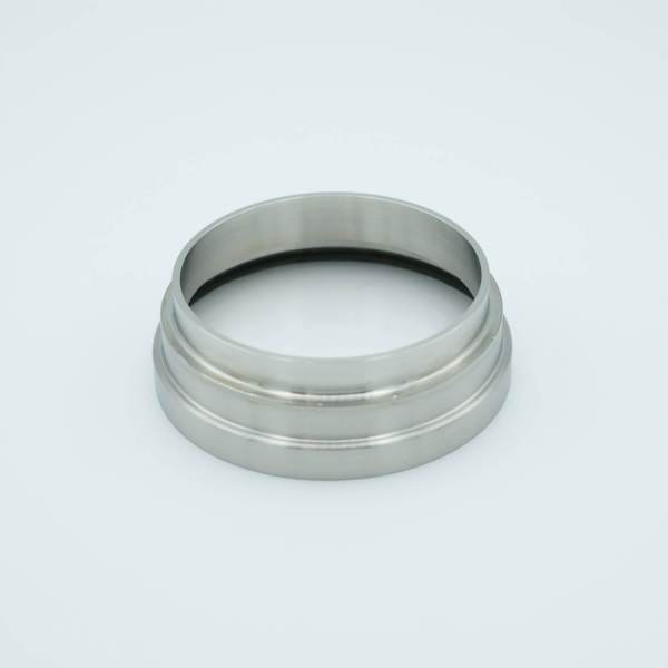 """UV Grade Fused Silica Viewport, 2.37"""" View Dia, 2.50"""" Dia Stainless Steel Weld Adapter"""