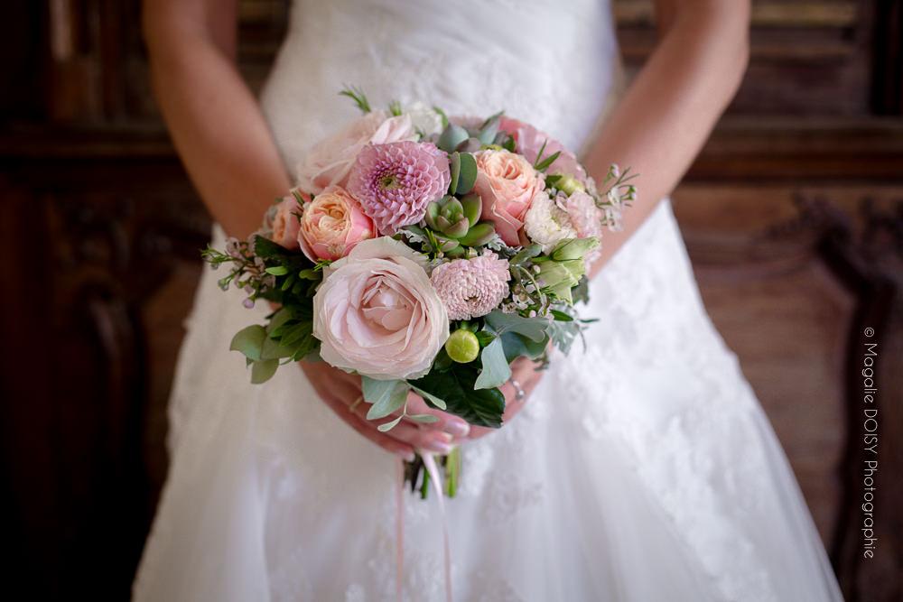photographe caen bouquet de la mariée