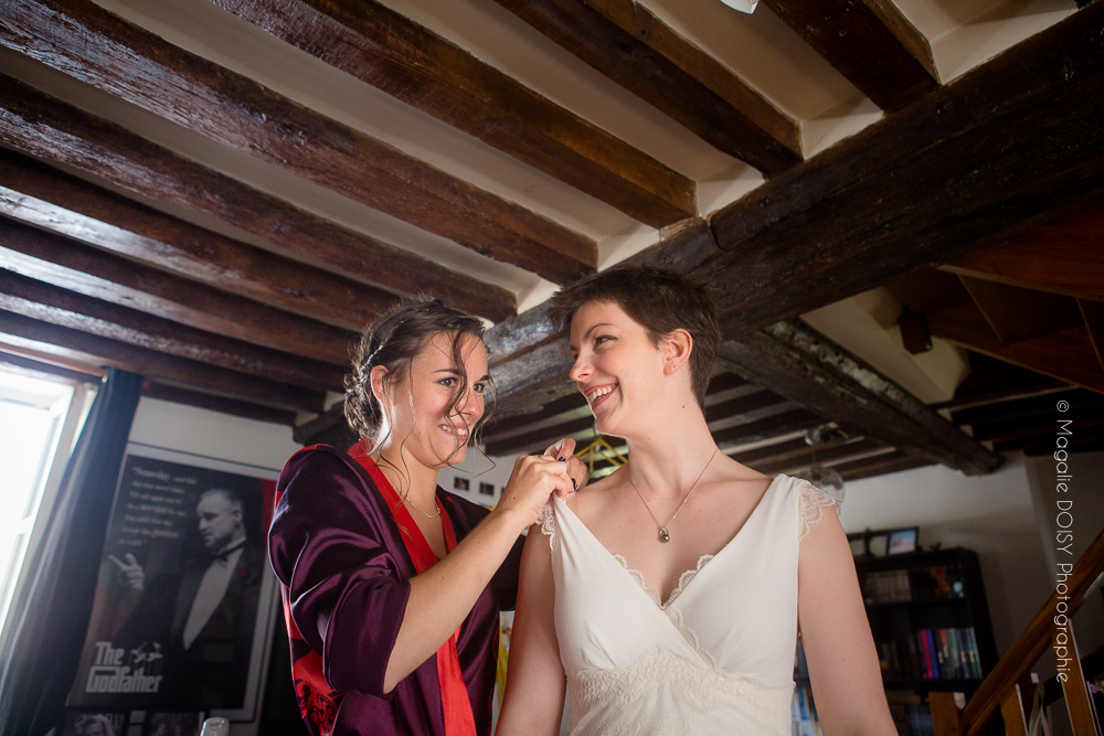 photo des préparatifs de la mariée