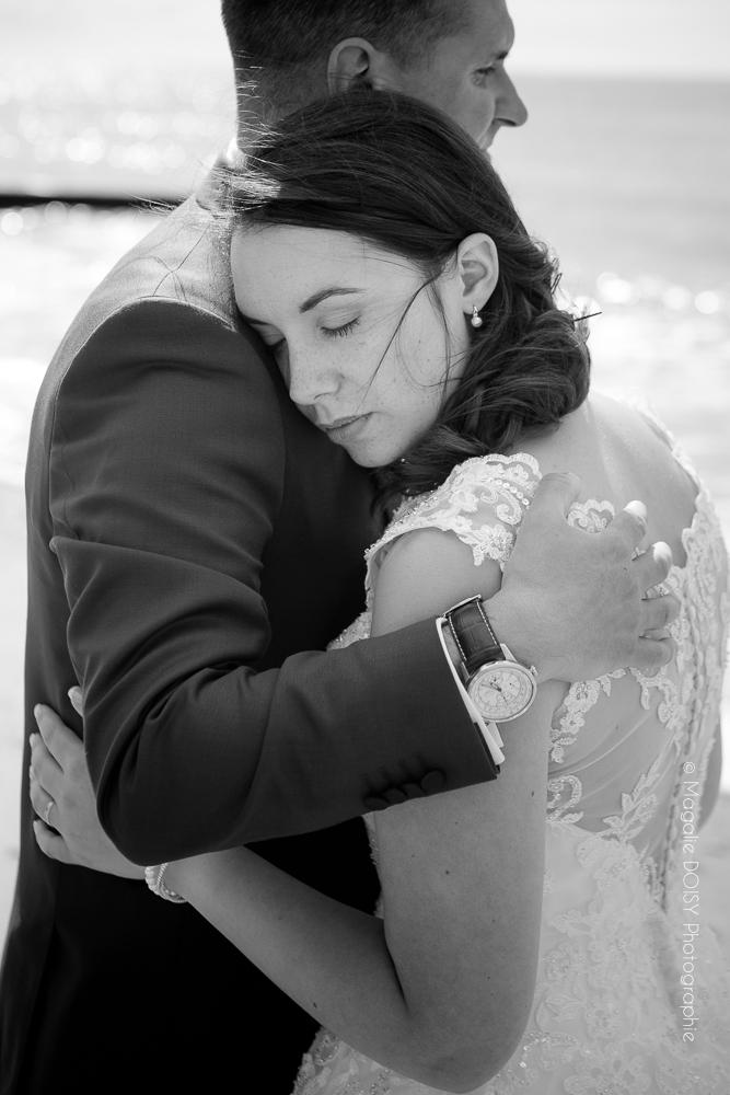 Mariage séance couple à Villerville