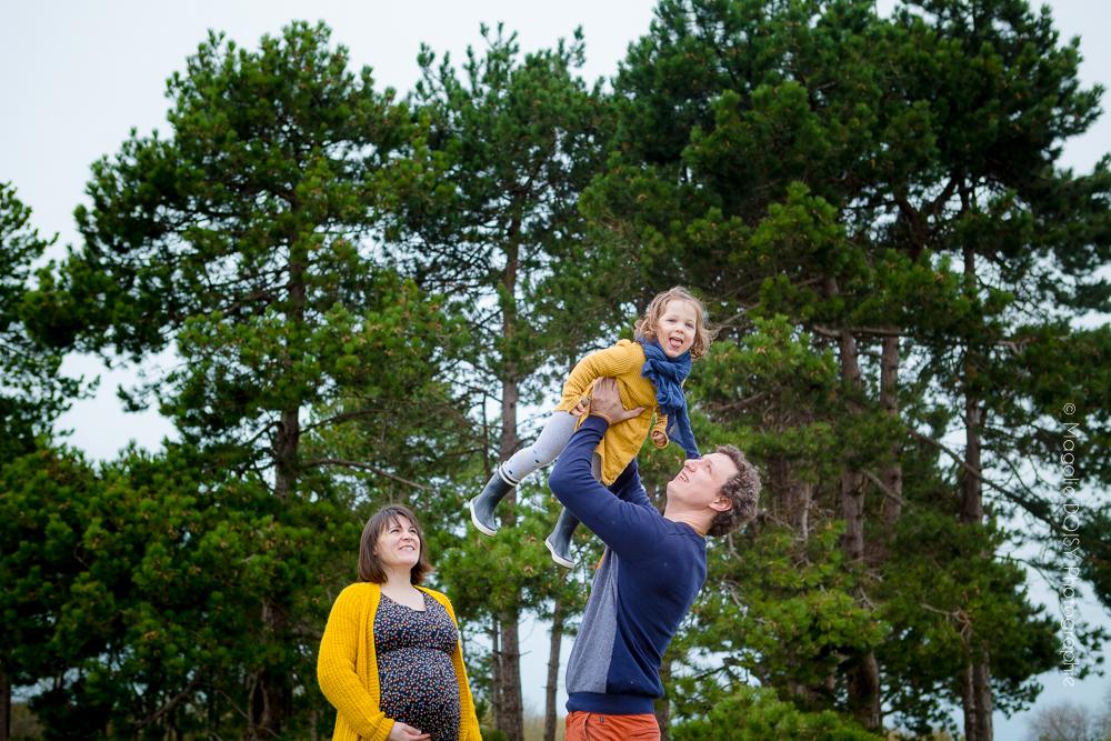 photo grossesse en famille à Ouistreham