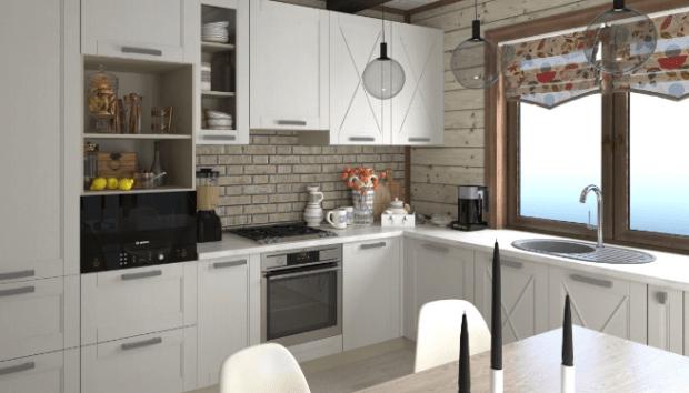 кухня по индивидуальному проекту скандинавский стиль