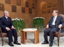 Rencontre des ex-généraux Michel Aoun et Michel Sleiman