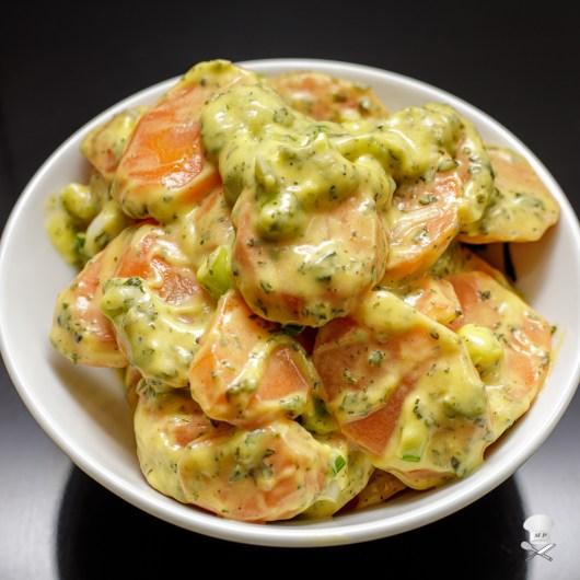 Karottensalat mit Schmand-Dressing