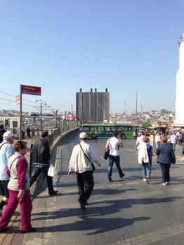 The Galata Bridge.