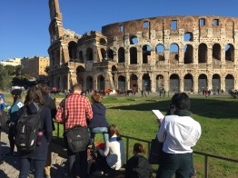 Drawing in Rome at the Colosseum