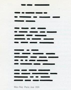 Untitled Poem (1924), Man Ray