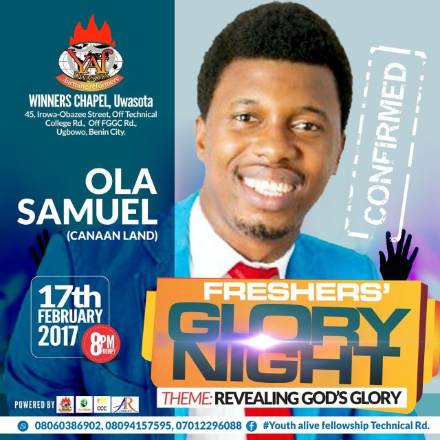 fgn%202 Event: Freshers' Glory Night with Frank Edwards, Ola Samuel and More