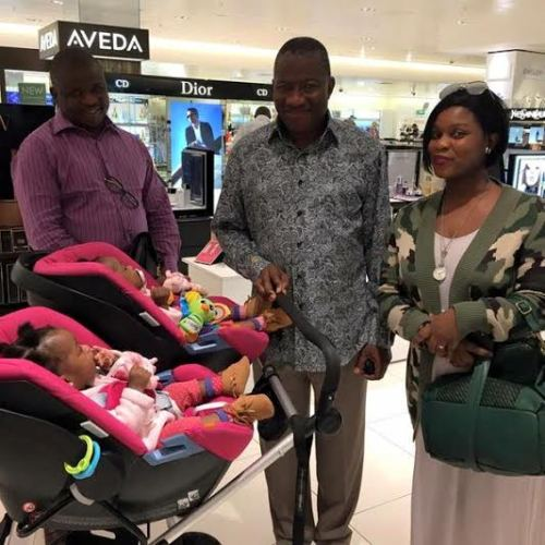 a Former Nigerian President, Goodluck Jonathan Spotted At London Airport