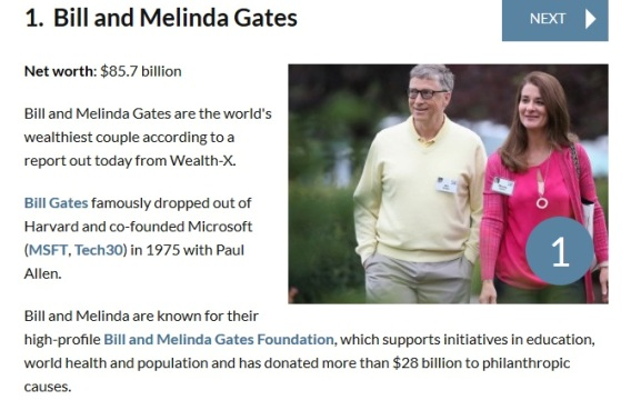 13 Ever Heard of the World's Wealthiest Couples?? Meet the First 10 | Photos
