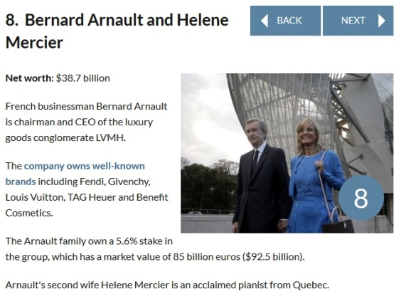 8 Ever Heard of the World's Wealthiest Couples?? Meet the First 10 | Photos