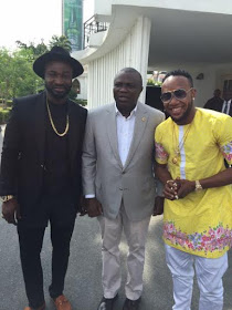2 5Stars Kcee & Harrysong Visit Governor Ambode at State House