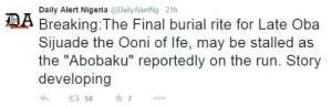 abobaku 'Abobaku' Of Ife's Ooni Reportedly Disappears As Burial Plans Kick Off