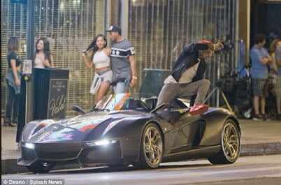 chris Chris Brown Flaunts His 200k Rezvani Beast Sports Car   Photos