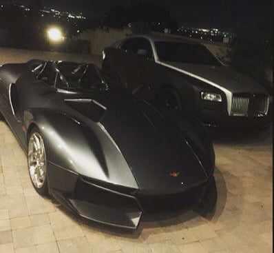 chris2 Chris Brown Flaunts His 200k Rezvani Beast Sports Car   Photos
