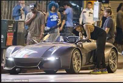 chris5 Chris Brown Flaunts His 200k Rezvani Beast Sports Car   Photos