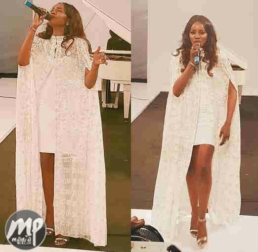 wp-1470476474528-1 Stunning Photos of Seyi Shay in white cape dress while on stage