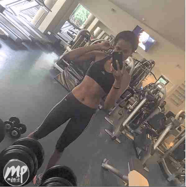 wp-1470809841304-1 Who can beat that? Agbani Darego shows off impressive abs (Photo)