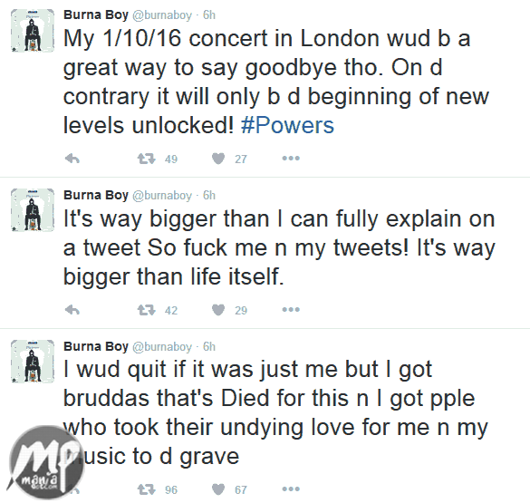 wp-1471502850431-1 Burnaboy wants to quit music, See when...