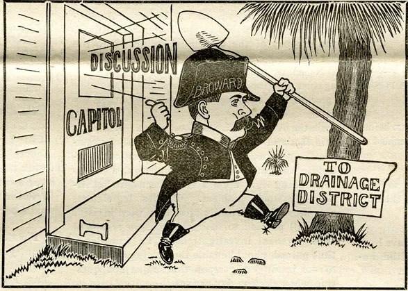 Florida Governor Napoleon Bonaparte Broward drains the swamp