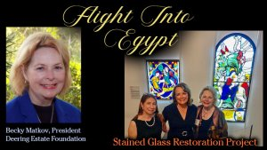 Becky Matkov - Flight Into Egypt Stained Glass Restoration Project