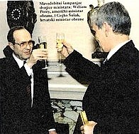 William Perry and Gojko Šušak